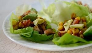 vegan mushroom lettuce wraps
